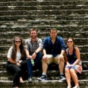 Shown here, Savannah Ray, Alex Prevatte, DJ Willett, and Maddison Staszkiewicz are at the Cholula pyramid in Puebla, Mexico.