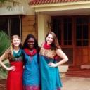 Honors stuydents Sarah Irsik, Sarah Mbiki, and Emily Boaz