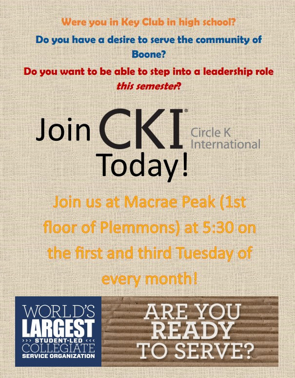 Join Circle K International | The Honors College