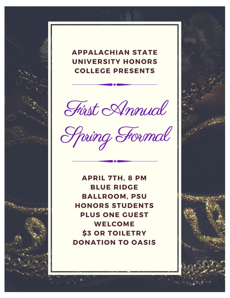 Aha spring formal the honors college honorsformalflyerg stopboris Gallery